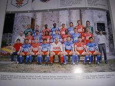 FOOTBALL COUPURE LIVRE PHOTO COULEUR 20x10 D2 GrB ABBEVILLE PICARDIE 1989/1990