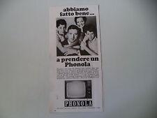 advertising Pubblicità 1967 TELEVISORE PHONOLA