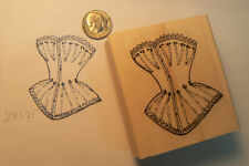 P36 Corset rubber stamp WM 2x 2.25""