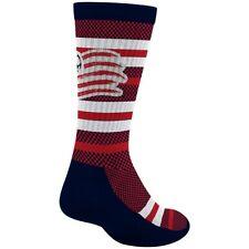 New England Revolution MLS Adidas Men's Stripe Polka Dot Pattern Red Crew Socks