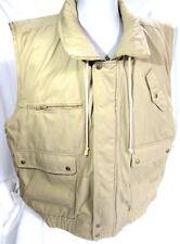 Appalachian Trail Jacket Vest XXL Uni-Sex Tan Khaki Plaid Lining Zipper & Snaps