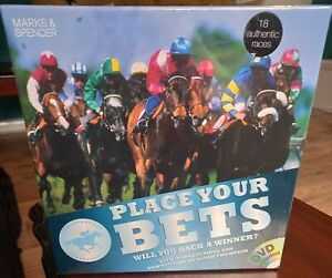 PLACE YOUR BETS DVD BOARD GAME 18 AUTHENTIC RACES HORSE RACING RACE NIGHT NEW