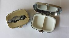 Volvo P 1800S ref279 pewter effect car emblem on silver metal pill box