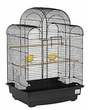 LIBERTA PAGODA BUDGIE CANARY FINCH BIRD CAGE SLIDING TRAY FEED POTS PERCH NEW