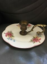 SHELLEY PLATE DISH CANDLE HOLDER BRASS RARE ENGLAND COLLECTABLE