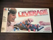 Milton Bradley Leverage A Game of Strategy and Suspense Board Game Complete