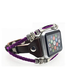 For Apple Watch Series 5 4 3 2 HandMade Leather Strap Wrist Band Bracelet iWatc