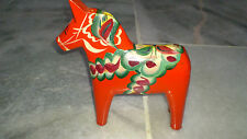 SWEDEN Traditional Handcrated Wooden Dala Horse - New from Sweden