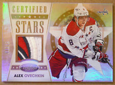 "2012-13 ALEXANDER OVECHKIN PANINI CERTIFIED ""CERTIFIED STARS"" LOGO PATCH SP / 25"