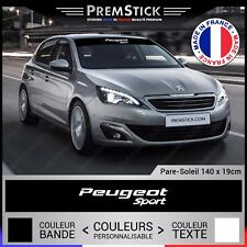 Sticker Pare Soleil Peugeot Sport - Autocollant Voiture, Stickers Racing, ref4