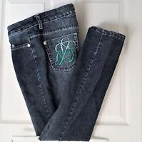Victoria Beckham Rock & Republic Jeans Sz 31 Low Rise Tapered Dark Wash 33X32.5