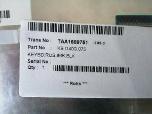 New Keyboard клавиатура Packard Bell EASYNOTE NJ31 32  65 66 KB.I140G.075Russian