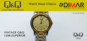 Vintage Watch Q&Q Upper 1508. Series Metal WR.30m. Ø. Caja. 36mm. 1 Micron