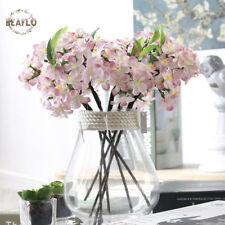 1PC Vivid Silk Flower Cherry Artificial Sakura Flowers for Home Decoration
