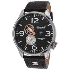 Ingersoll 1003Bk Men's Teton Auto Ltd Ed Black Genuine Leather And Dial Watch