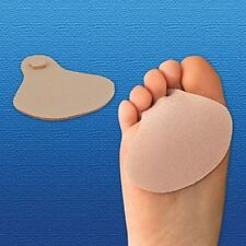 Silipos Ball of Foot Gel Cushions with Toe Loop | Fabric Covered Forefoot Pads