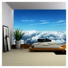 Wall26 - Aerial View of Clouds and Landscape Canvas Wall Art Decor- 66x96 inches