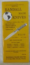 VTG RARE 1969 VIETNAM WAR ERA RANDALL KNIFE BROCHURE CATALOG