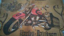 Pelle Con Disegno Raffigurante Immagine Harley Davidson