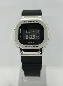CASIO G-SHOCK (GM5600-1) DIGITAL STEEL/RESIN STRAP WATCH (SILVER) NEW in BOX!!