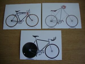 Cycles - 3 x New, Unused Postcards of Iconic Bicycles - Labor, Solling & Colnago
