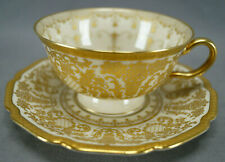 Rosenthal Ivory Pattern 5956 Pink Rose Floral & Heavy Gold Tea Cup & Saucer