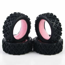 4Pcs Rubber Rally Tires 12mm Hex For HSP HPI 1/10 RC Racing Off-Road Car PP0487