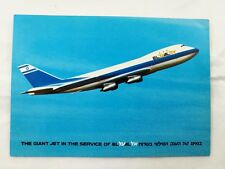 EL AL Israel Airline Old Postcard Company THE GIANT JET HOLY VIEWS BOEING 747