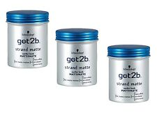 (59,88 €/ L) 3X 100 Ml Schwarzkopf Got2b Beach Mat Matt Paste Surfer Look