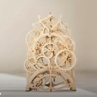 ROKR DIY Pendulum Clock Model Kit Wooden Gear Building Toy Gift for Adult Father