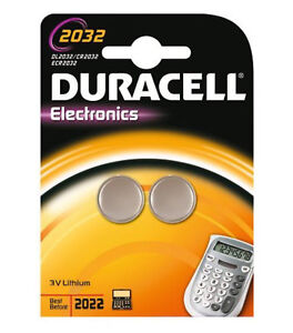 Duracell CR2032 3V 2032 Lithium Button Coin Cell Battery Pack DL CR Twin Pack