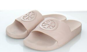 05-17 $148 Women's Sz 8 Tory Burch Lina Leather Slide Sandal In Seashell Pink