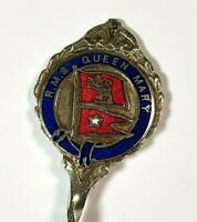 Early RMS Queen Mary Bought Onboard Souvenir Spoon Cunard White Star Line 1930's