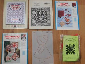 6 quilt pattern booklets