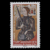 France 2012 - Birth of Jeanne d'Arc - Joint Issue with The Vatican - Sc 4220 MNH