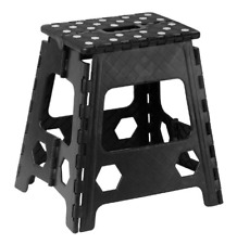 Superior Performance Folding Step Stool 15 Inch Anti Slip Dots Black