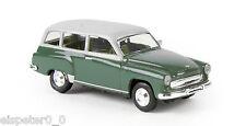 Wartburg 311 Familiare,verde/grigio,Brekina H0 DDR Auto Modello finito 1:87,