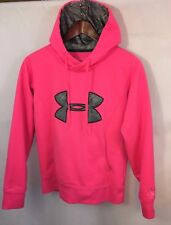 Under Armour Women's Armour Storm Big Logo Breast Cancer Ribbon Hoodie Small