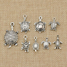 8 Pcs Silver Tortoise Pendant Jewellery Necklace Pendant Bracelet Accessories
