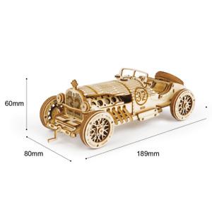 Puzzle 3D rompecabezas coche gran prix madera