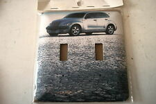 """P-T CRUISER SILVER CAR  NEW DOUBLE SWITCH PLATE 4 3/4"""" X 5"""""""