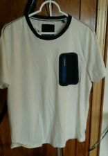 Sperry ivory mens large sailing shirt zipper pocket
