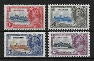 SWAZILAND 1935 Mint LH Silver Jubilee Complete Set of 4 SG #21-24