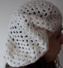Handmade crochet cream coloured Kingston hat or beret