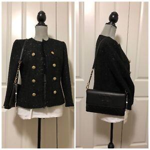 NWT Tory Burch Alexa Leather Clutch and shoulder bag  , Black # 50645