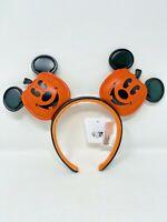 Disney Parks Mickey Mouse Jack O Lantern Ear Headband Pumpkin Halloween Ears
