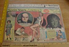 Acquanetta Ann Jeffreys Seein' Stars Feg Murray 1940s Sunday color panel 3i