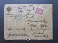Austria SC# 158 on 1918 Registered Commercial Cover / Great Wax Seals! - Z7441