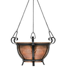 GAR572 H Potter Large Hanging Planter Patio Deck Garden Gift Handcrafted Decor