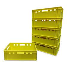 6 Stück E2 Stapelbox Gemüsekiste Vorratsbox Lagerbox lebensmittelecht gelb NEU